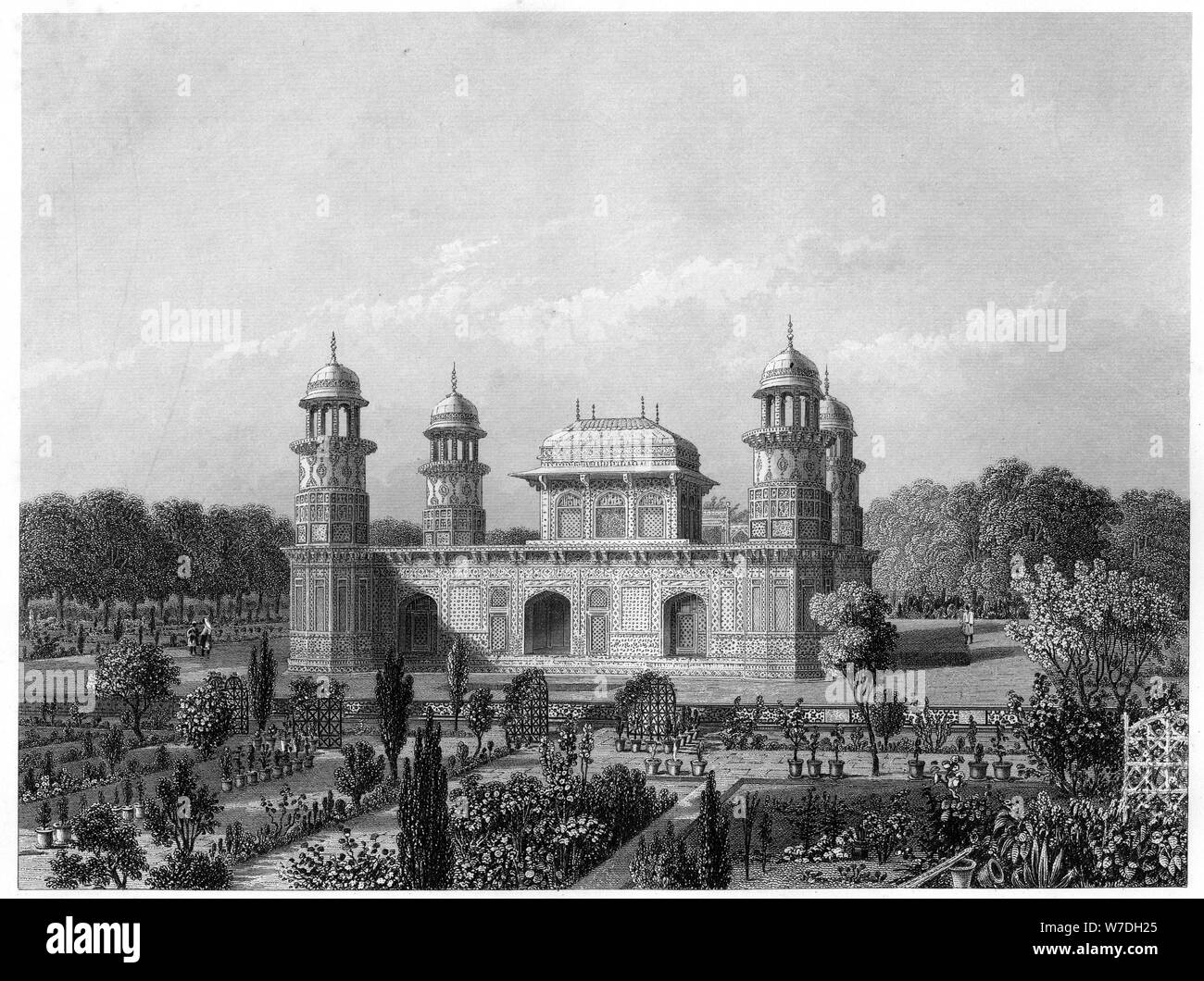 The tomb of Itimad-Ud-Daula, Agra, India, c1860. Artist: Unknown Stock Photo
