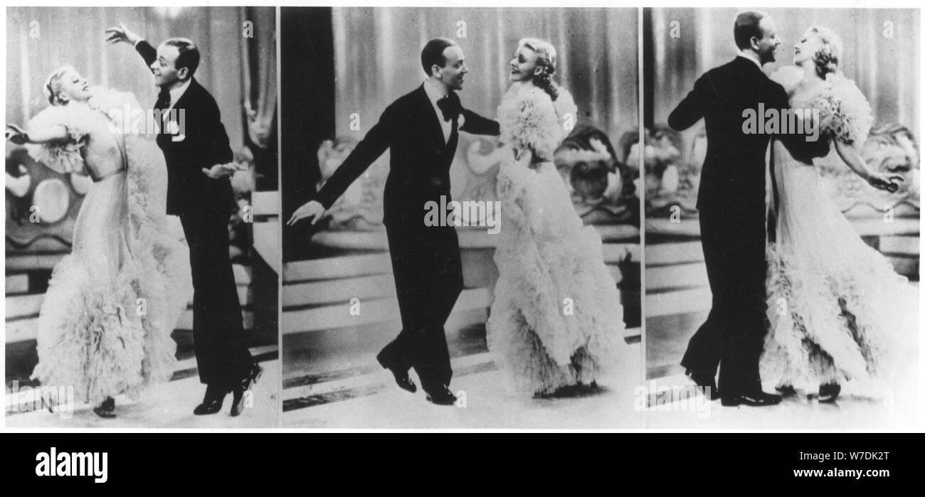 Fred Astaire And Ginger Rogers In The Film Swing Time 1936 Artist Unknown Stock Photo Alamy