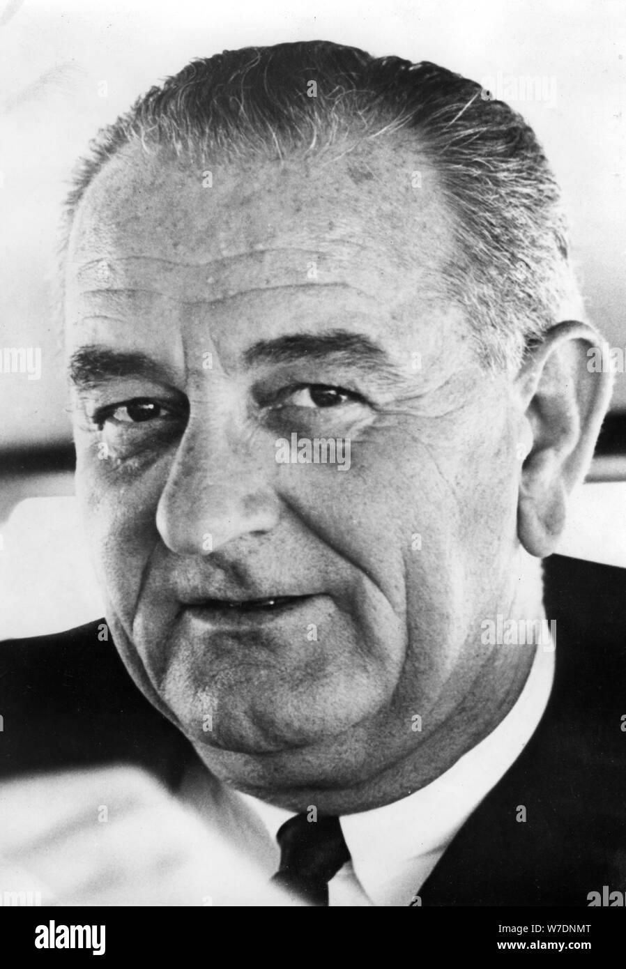Lyndon B Johnson, 36th President of the United States, 1963-1969. Artist: Unknown Stock Photo