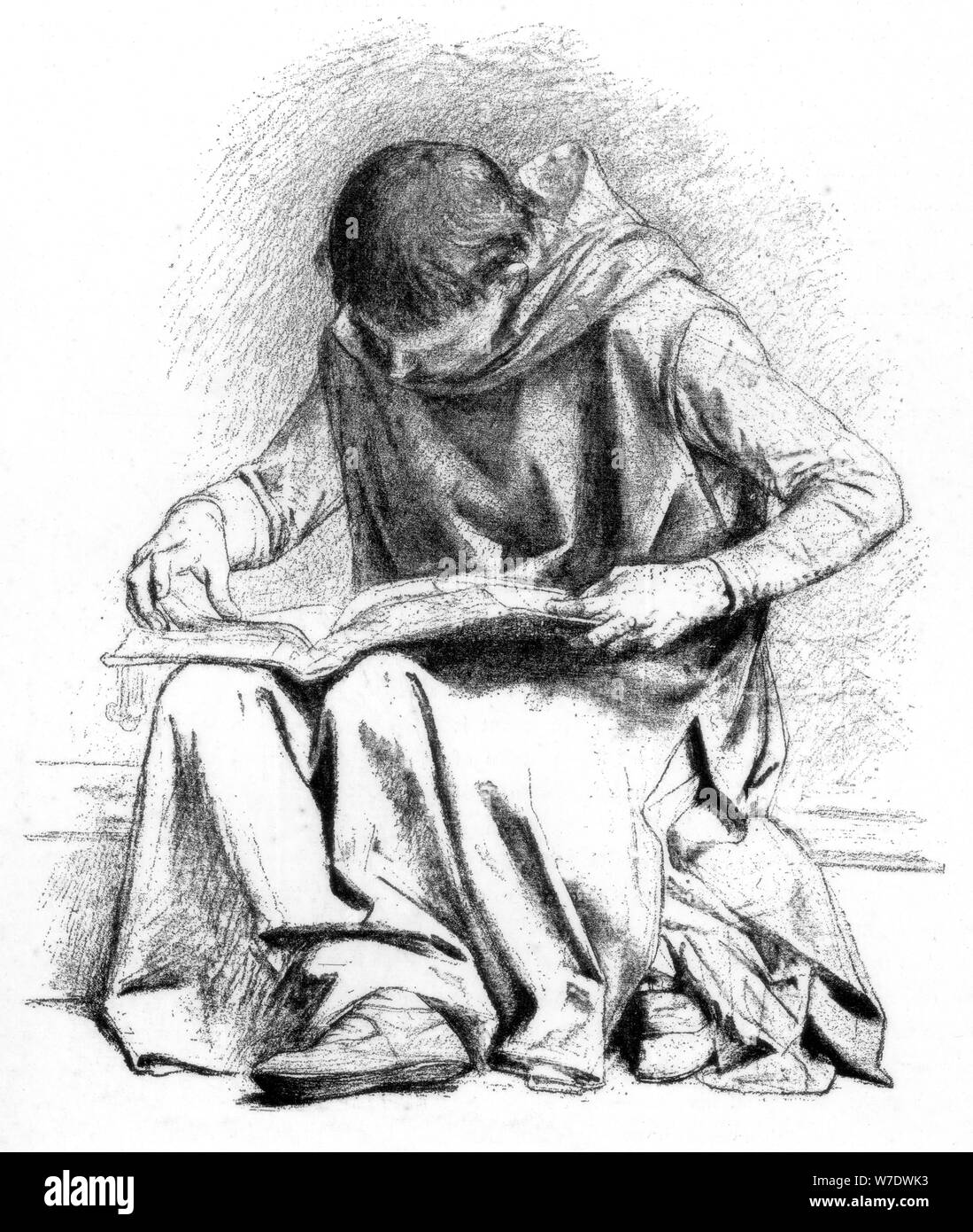 Study for 'The Education of St Louis' (Pantheon), c1880-1882.Artist: Alexandre Cabanel Stock Photo