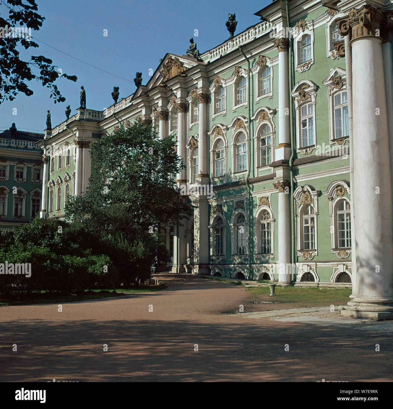 The Hermitage in St Petersburg, 18th century. Artist: Unknown Stock Photo