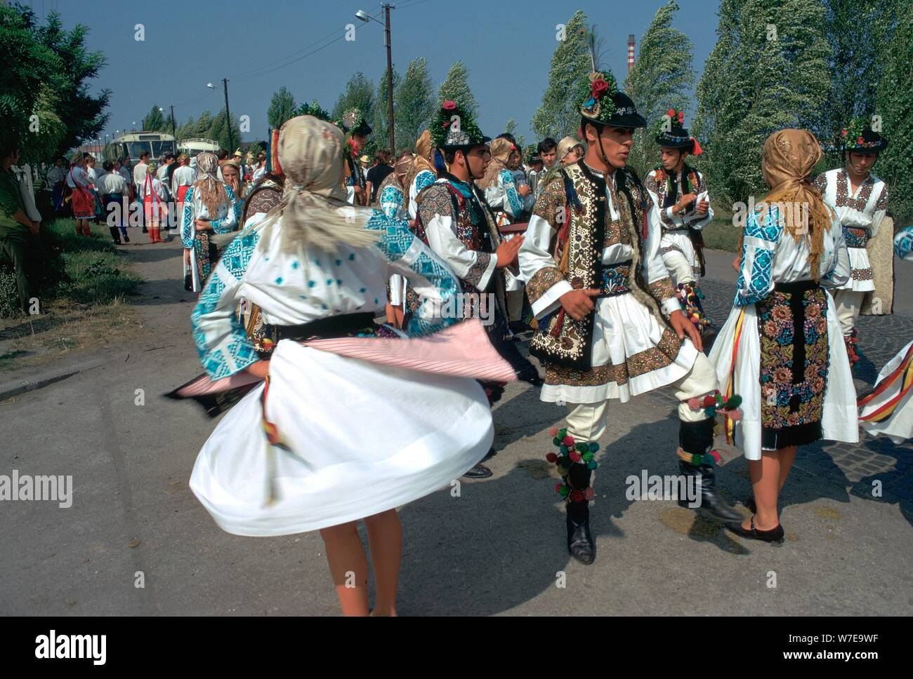 Dancers at a Hungarian folklore festival. Artist: CM Dixon Artist: Unknown Stock Photo