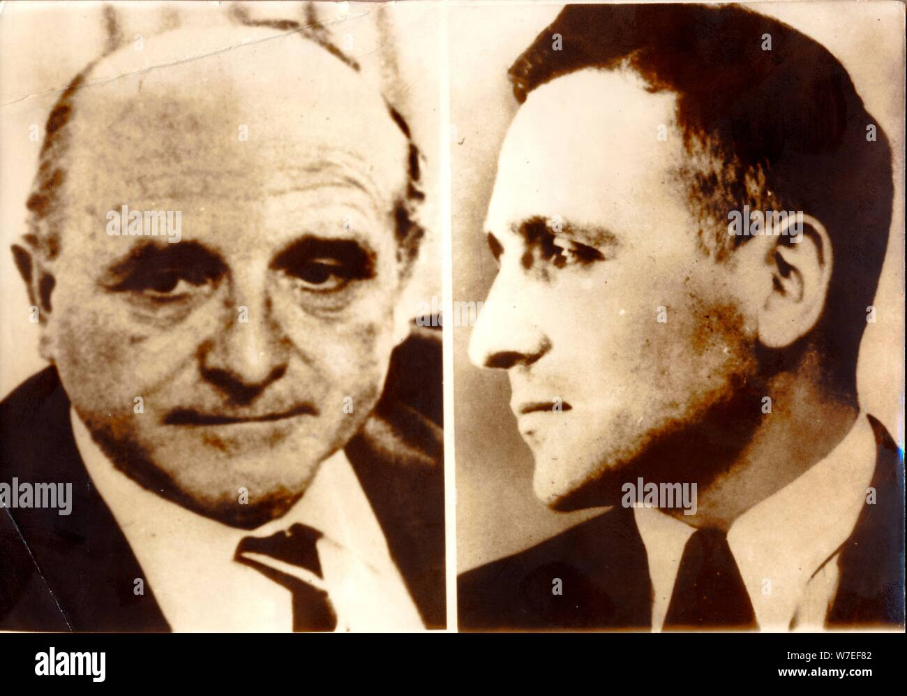 Two photographs of Klaus Barbie, German Gestapo officer and war criminal, c1940s-c1980s(?). Artist: Unknown Stock Photo