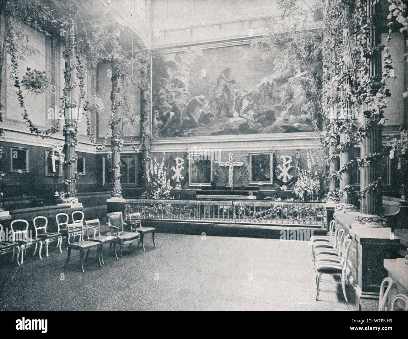 The Private Chapel of Buckingham Palace, c1910 (1911). Artist: HN King. Stock Photo