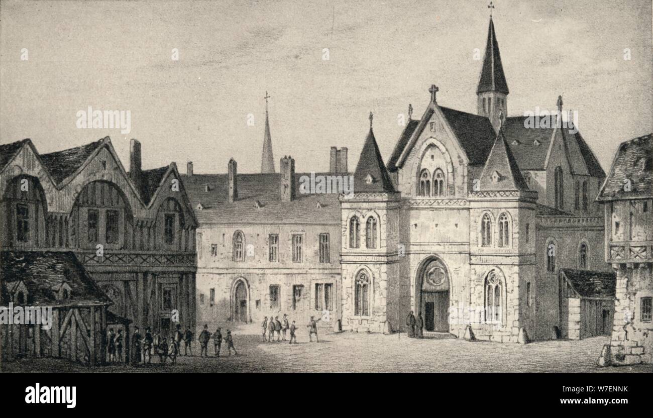 'The College of Sorbonne in 1550', 1915. Artist: Unknown. Stock Photo