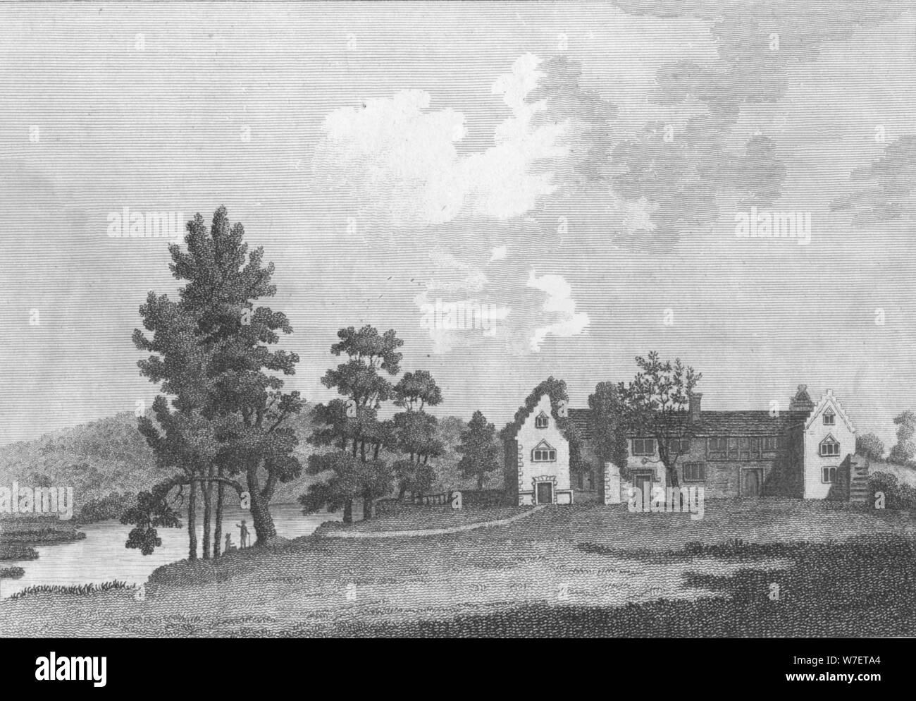 'Medmenham Abbey near Henley on Thames', 1787. Artist: J Newton. Stock Photo
