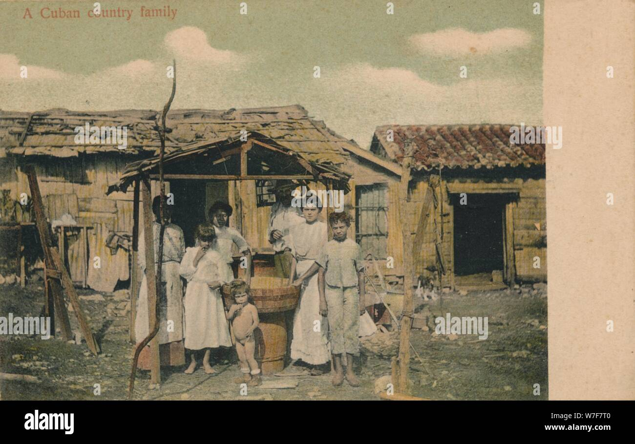 'A Cuban country family', 1908. Artist: Unknown. Stock Photo