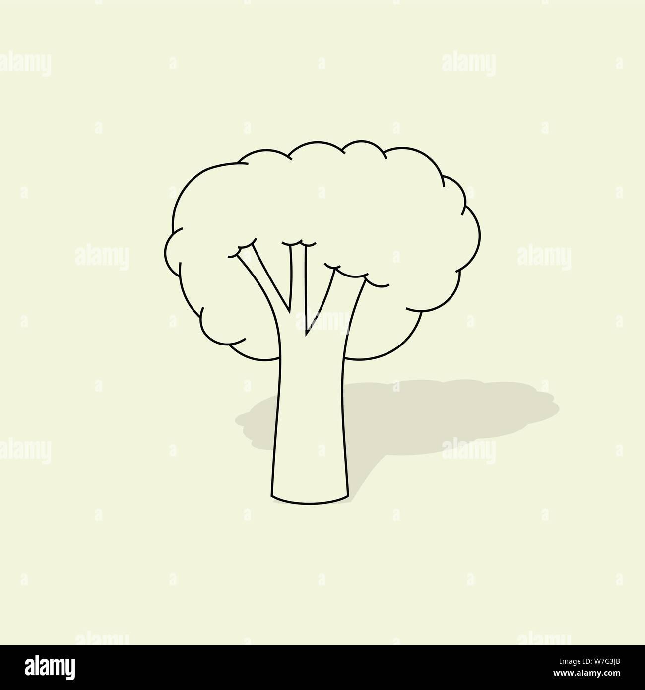 broccoli vector cartoon with black line no color concept design stock vector image art alamy https www alamy com broccoli vector cartoon with black line no color concept design image262812211 html