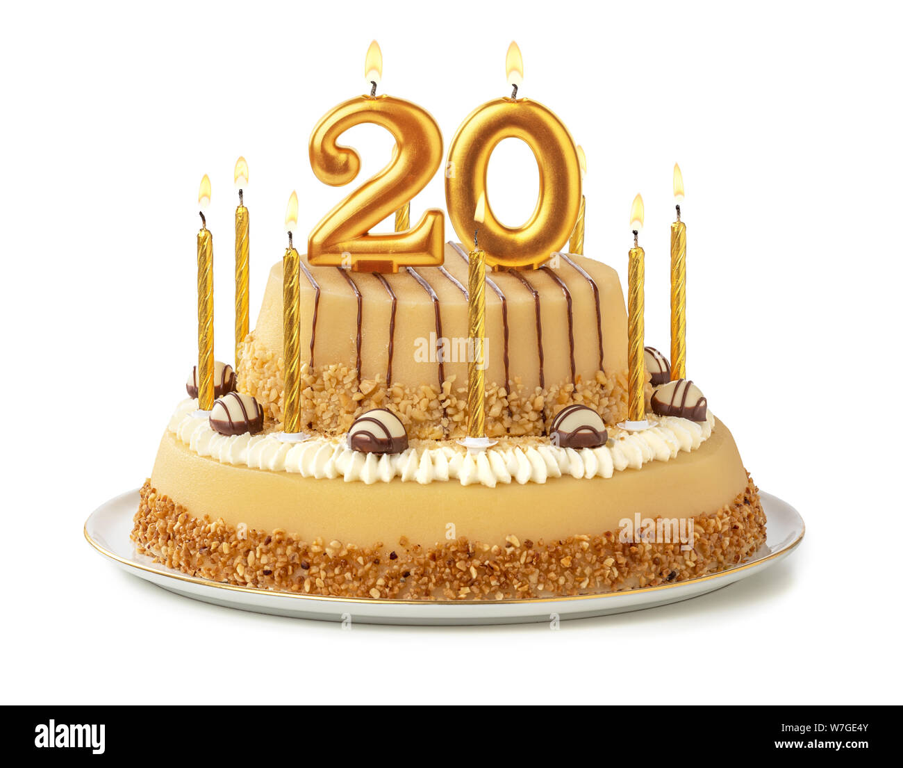 Superb 20Th Birthday Cake Stock Photos 20Th Birthday Cake Stock Images Personalised Birthday Cards Veneteletsinfo