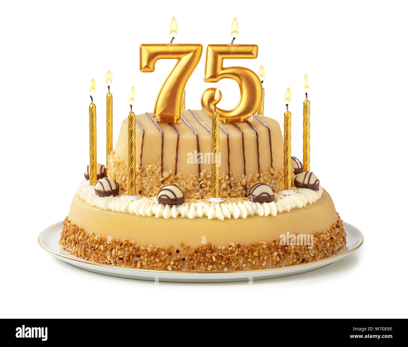 Magnificent 75Th Birthday Cake Stock Photos 75Th Birthday Cake Stock Images Funny Birthday Cards Online Inifofree Goldxyz