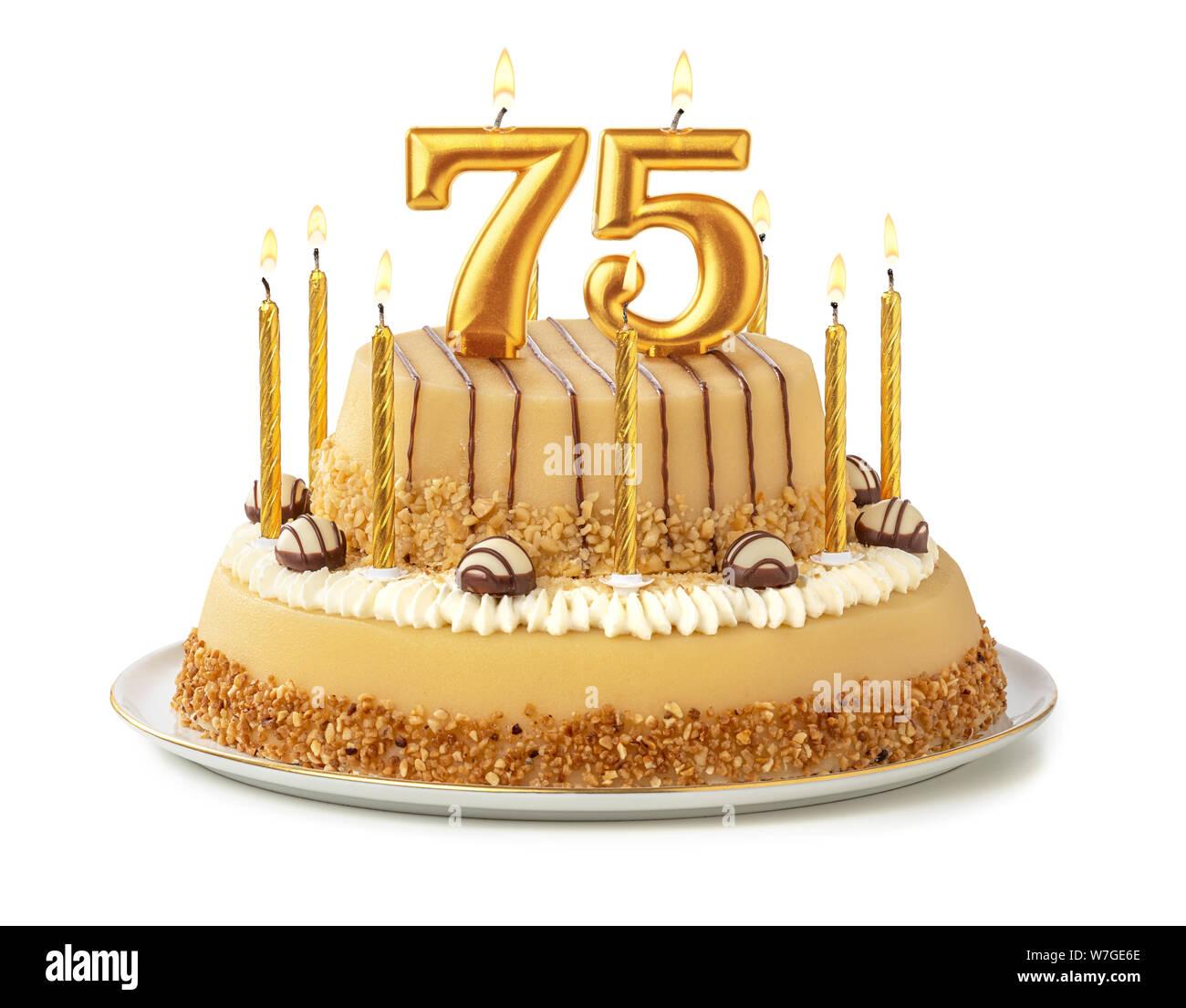 Astounding 75Th Birthday Cake Stock Photos 75Th Birthday Cake Stock Images Funny Birthday Cards Online Elaedamsfinfo