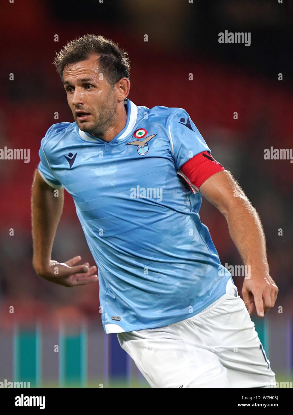 Lazio's Senad Lulic Stock Photo - Alamy