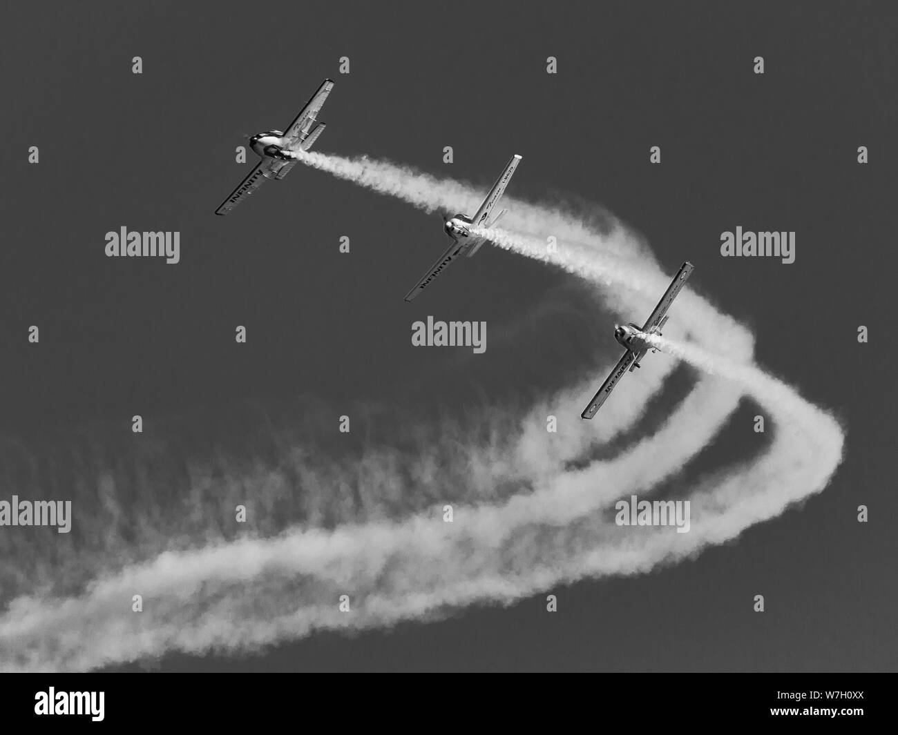 Acrobatic air show in ladispoli, italy Stock Photo