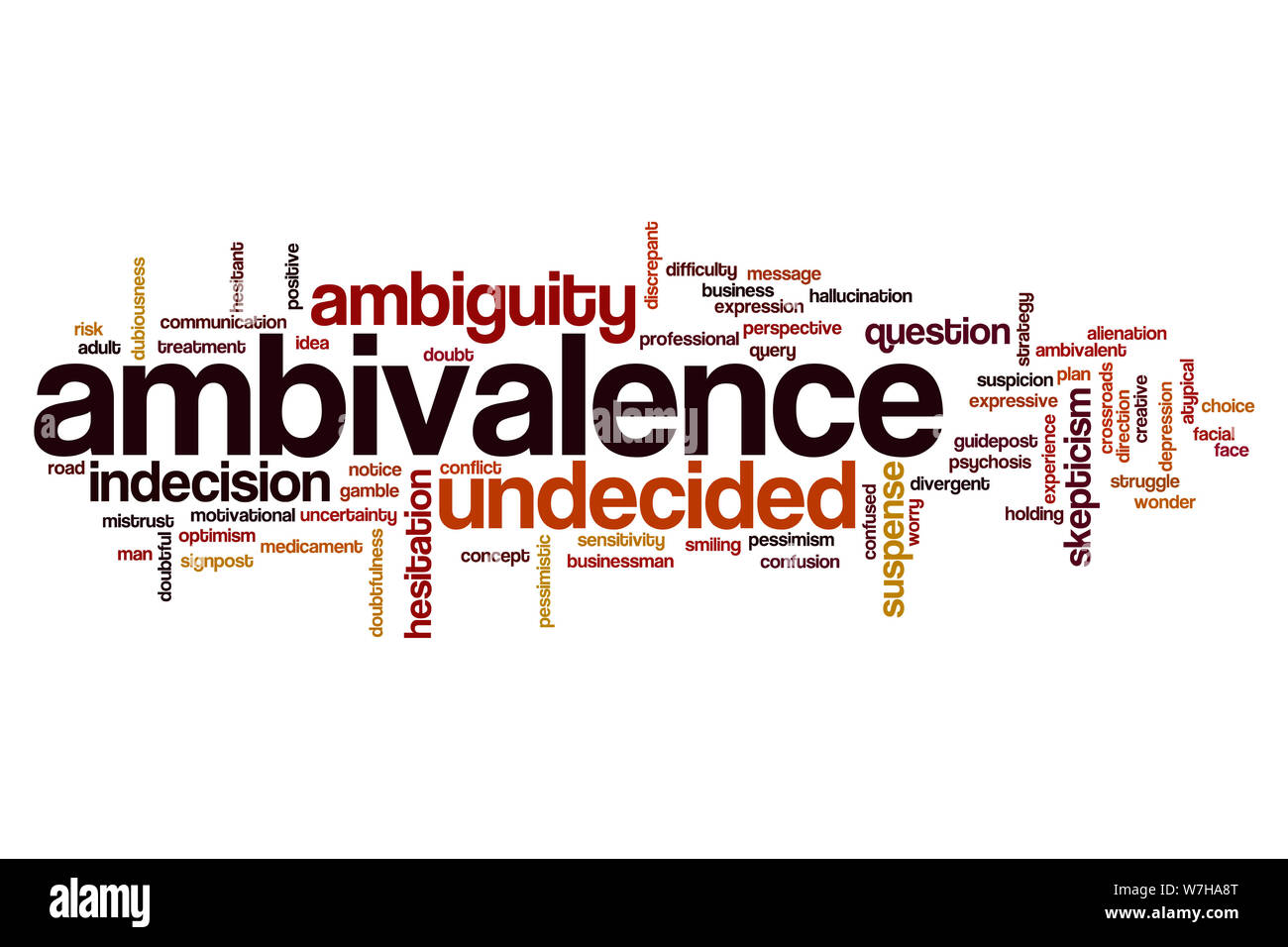 Ambivalence word cloud concept Stock Photo