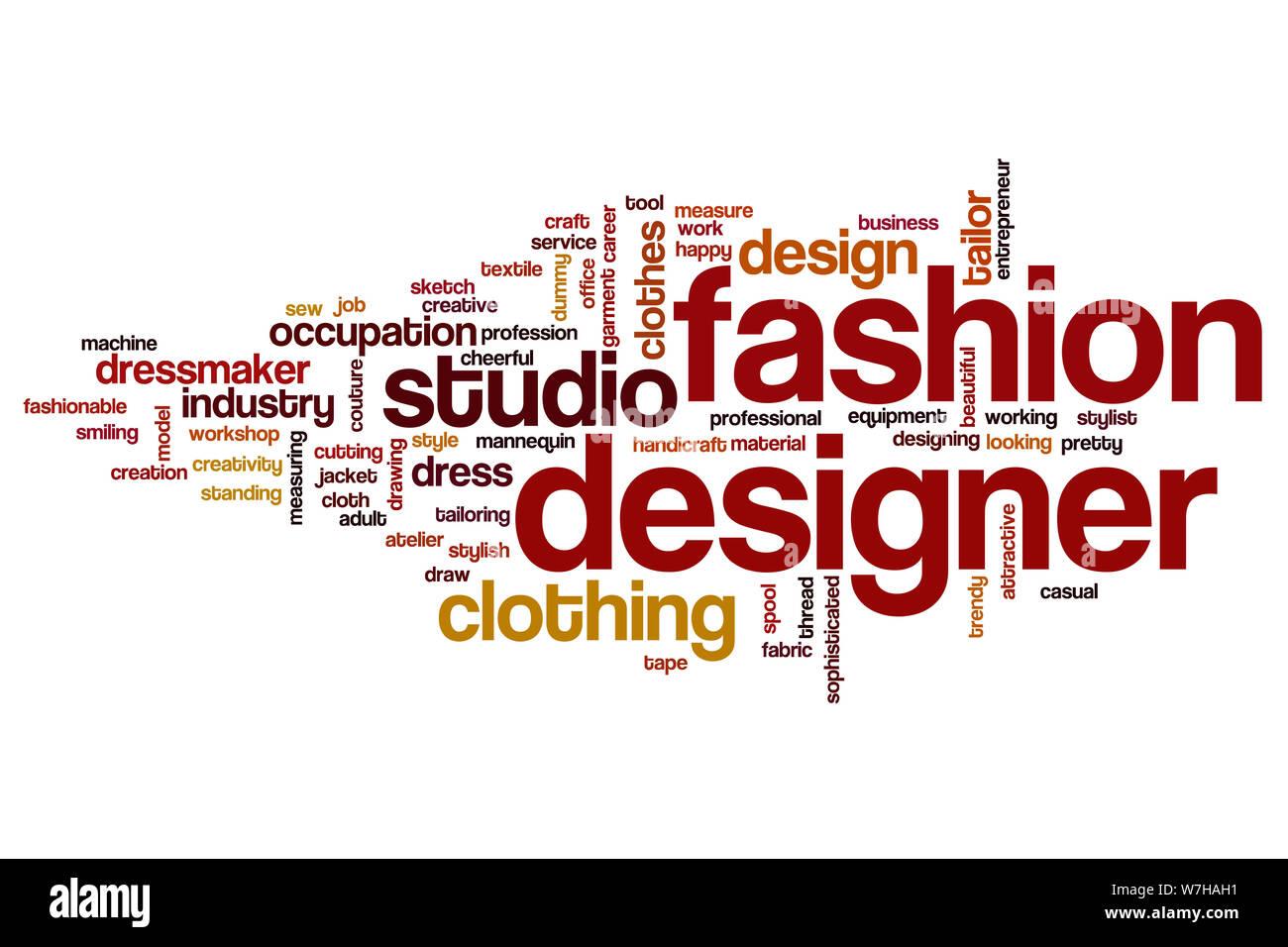 Fashion Designer Word Cloud Concept Stock Photo Alamy