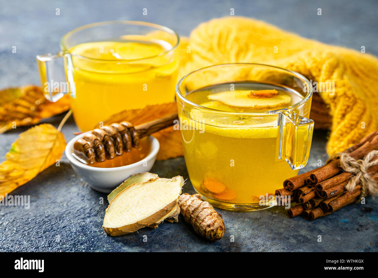 Ginger Turmeric Tea Stock Photos & Ginger Turmeric Tea Stock