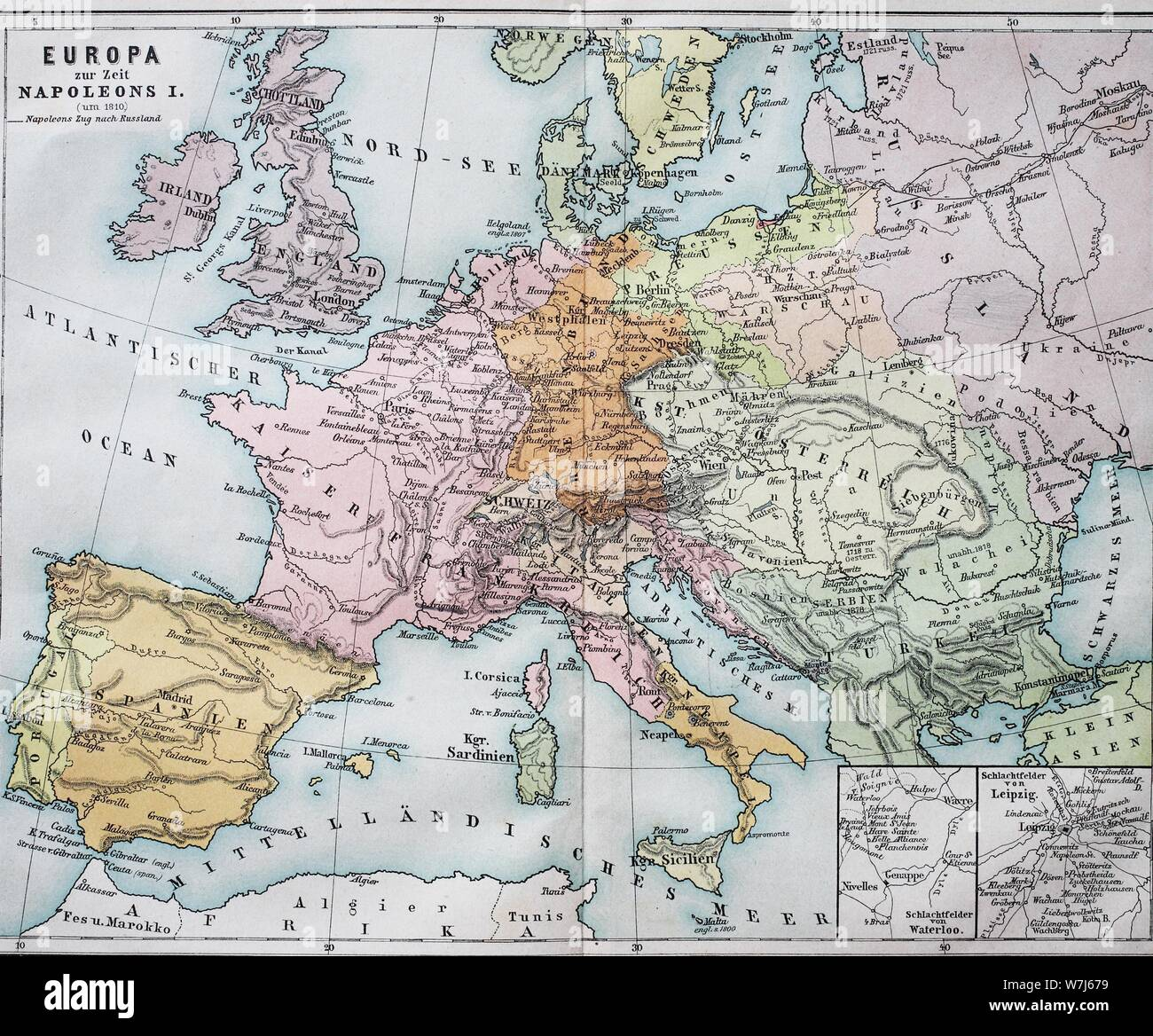 map of europe 1820 Historical map of Europe at the time of Napoleon I, 1820