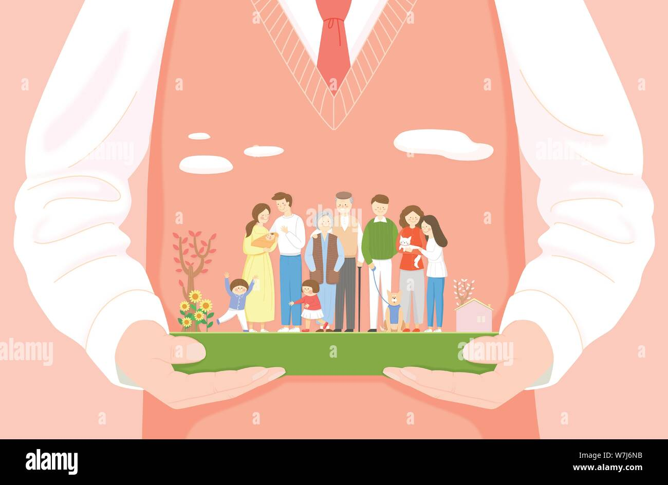 Concept of bible school or camp vector illustration 009 Stock Vector