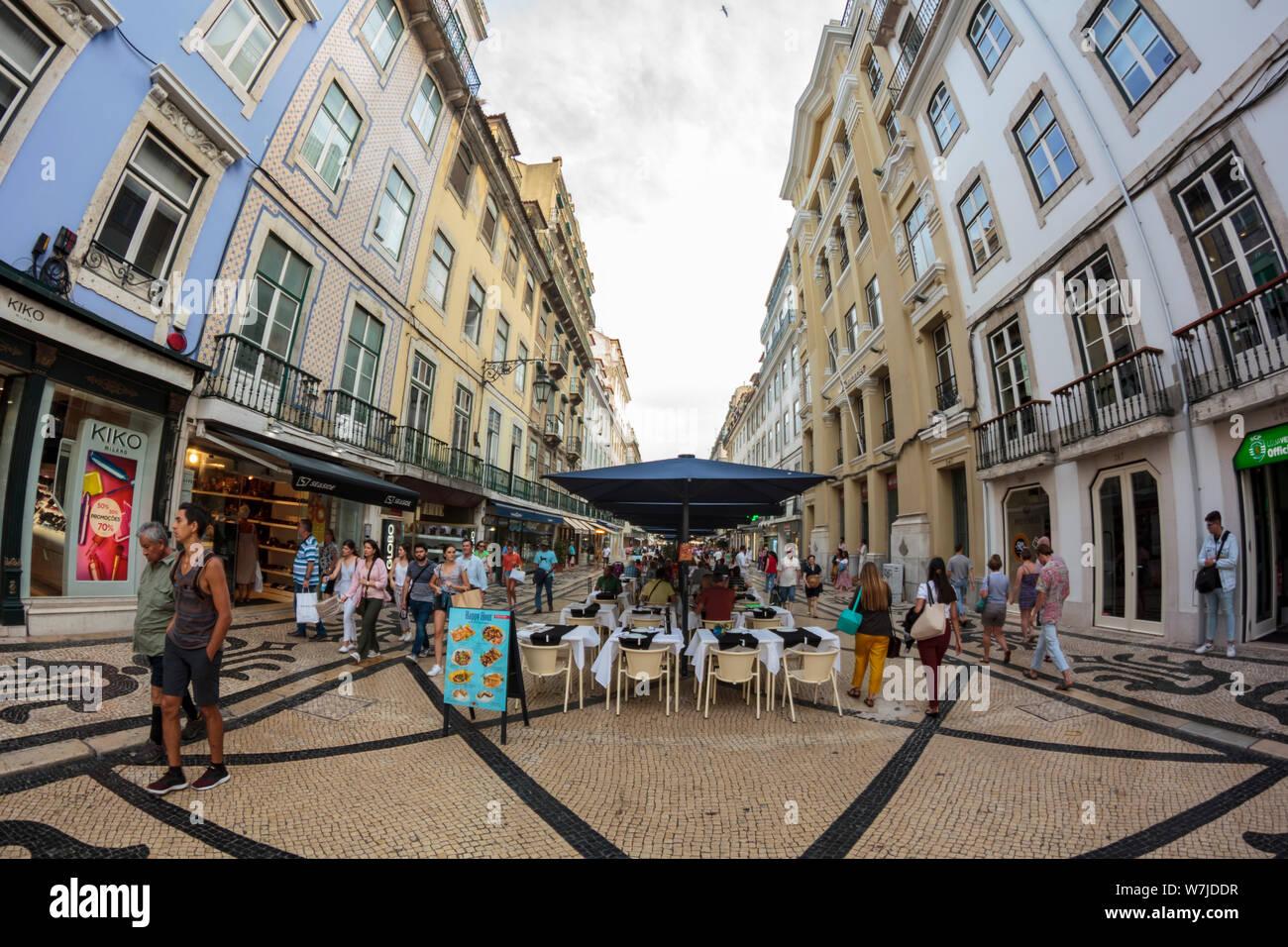 Lisbon Portugal Circa July 2019 Lisbon Downtown With