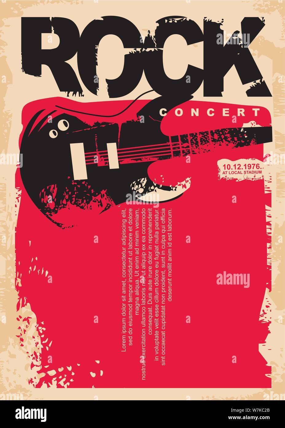 Rock Concert Poster Design Tutalo Parkersydnorhistoric Org