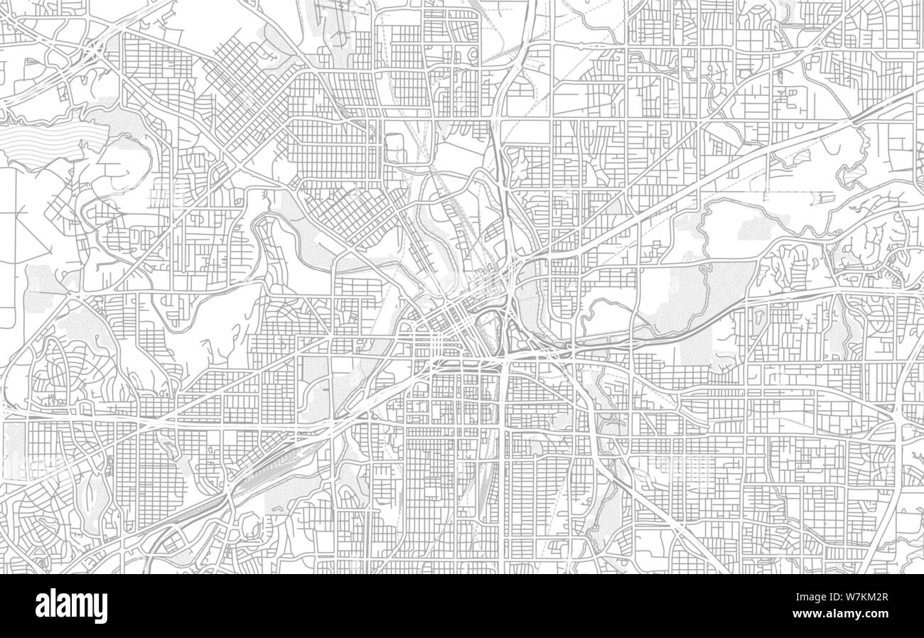 Fort Worth, Texas, USA, bright outlined vector map with ...