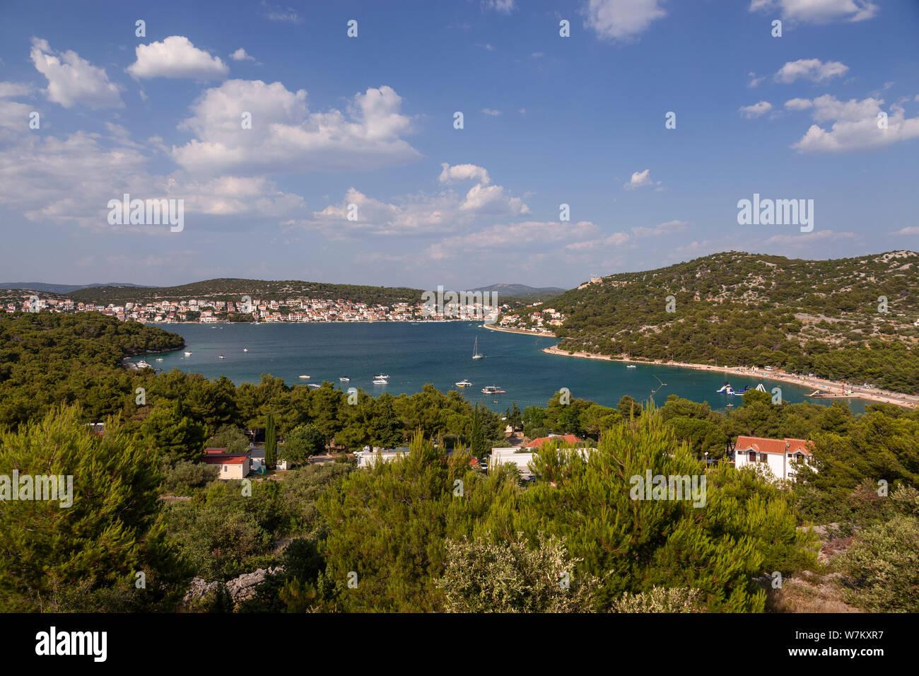Tisno on the Adriatic coast of Croatia Stock Photo