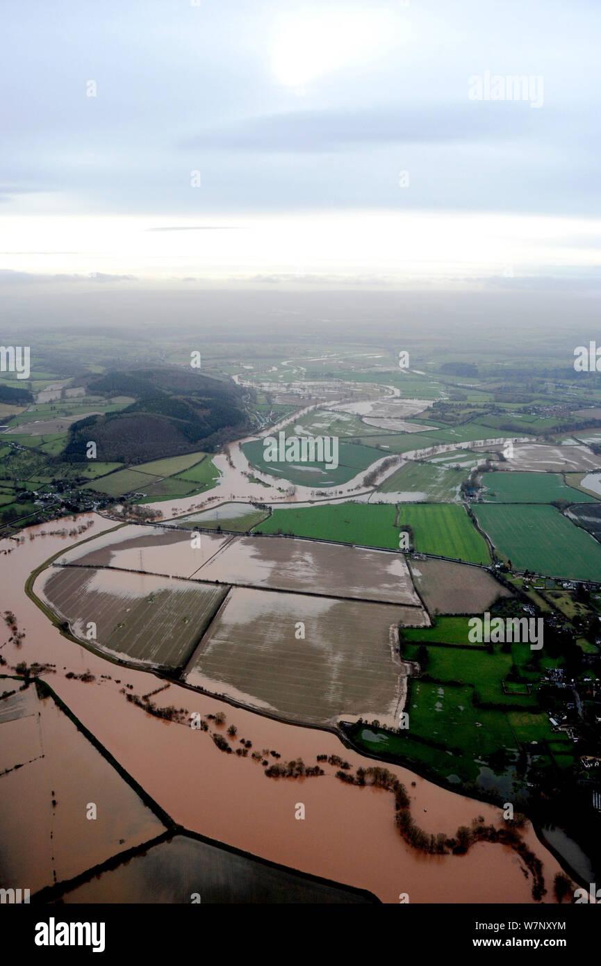 Herefordshire Floods Stock Photos & Herefordshire Floods