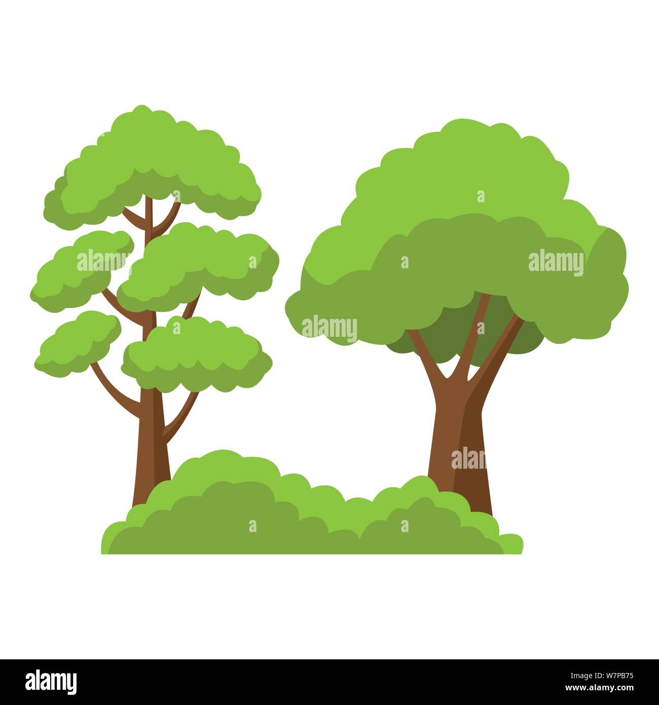 Cartoon Trees High Resolution Stock Photography And Images Alamy We love how our artists stage different cartoon characters like mario, mickey mouse, zelda etc. https www alamy com trees on bushes nature cartoon image262949881 html