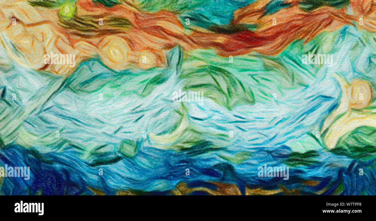 Abstract watercolor background. Acrylic design elements. Fashion