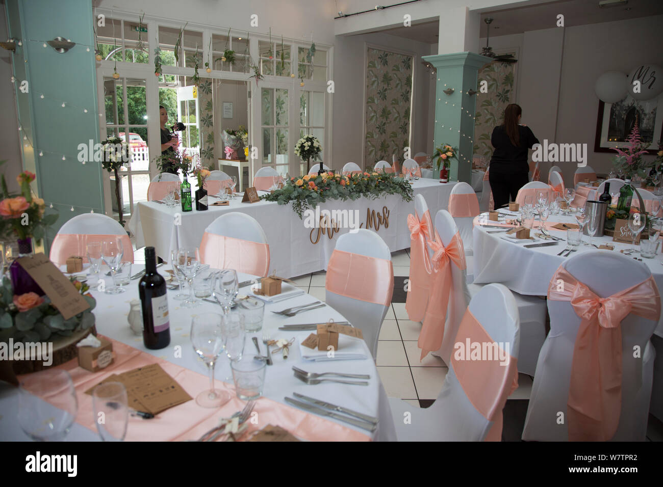 Wedding Reception Room With No People Showing All Of The