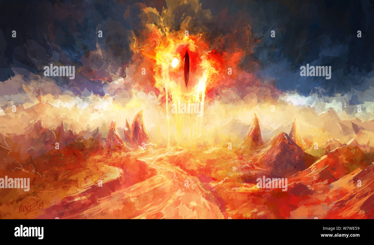 The Eye From Which Lava Flows Fantasy Concept Art With