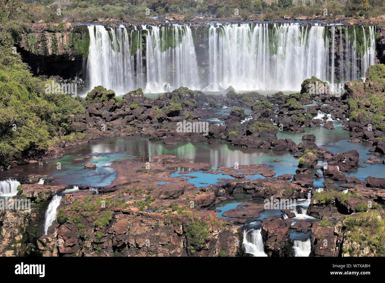 Salto Rivadavia, Iguazu falls, Brazil/Argentina. September 2010. Stock Photo