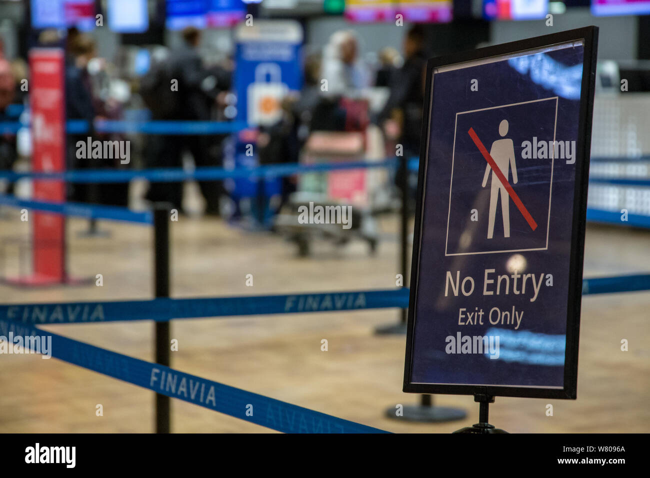 Sign for forbidding people entering Stock Photo