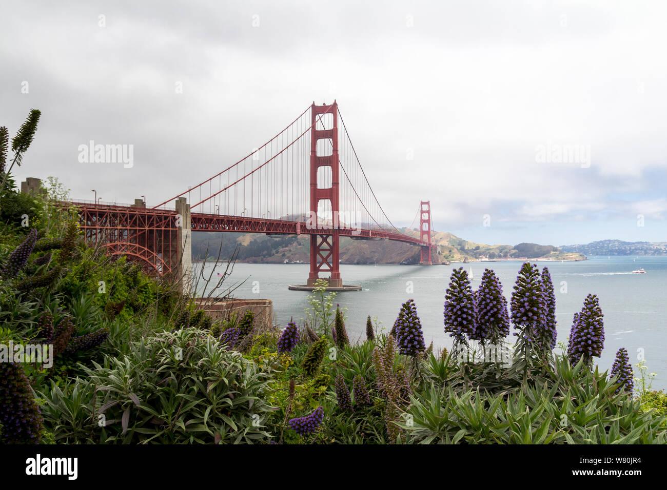 The Golden Gate bridge in San Francisco bay, United States Stock Photo