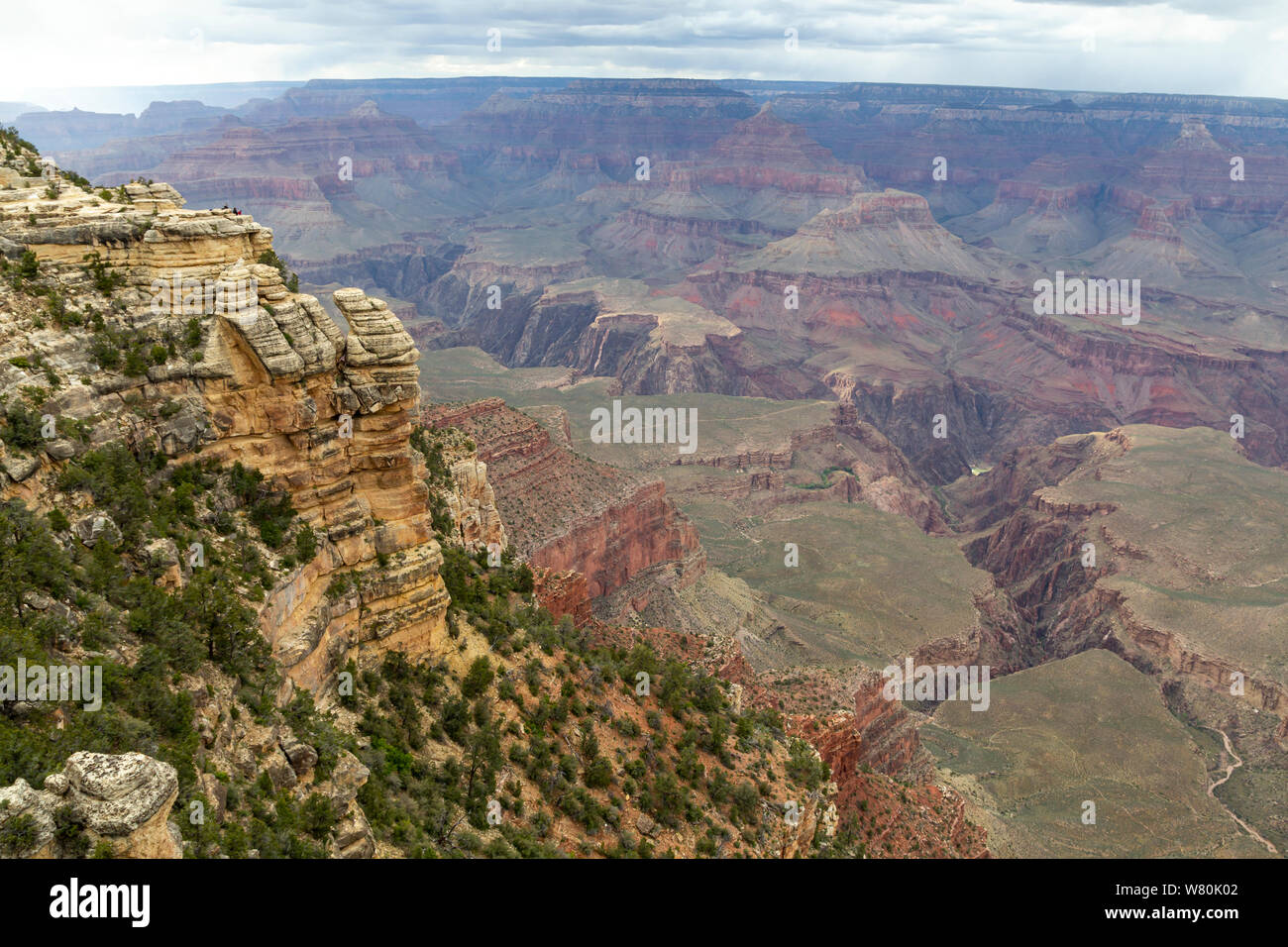 View from south rim in the Grand Canyon National Park, United States Stock Photo