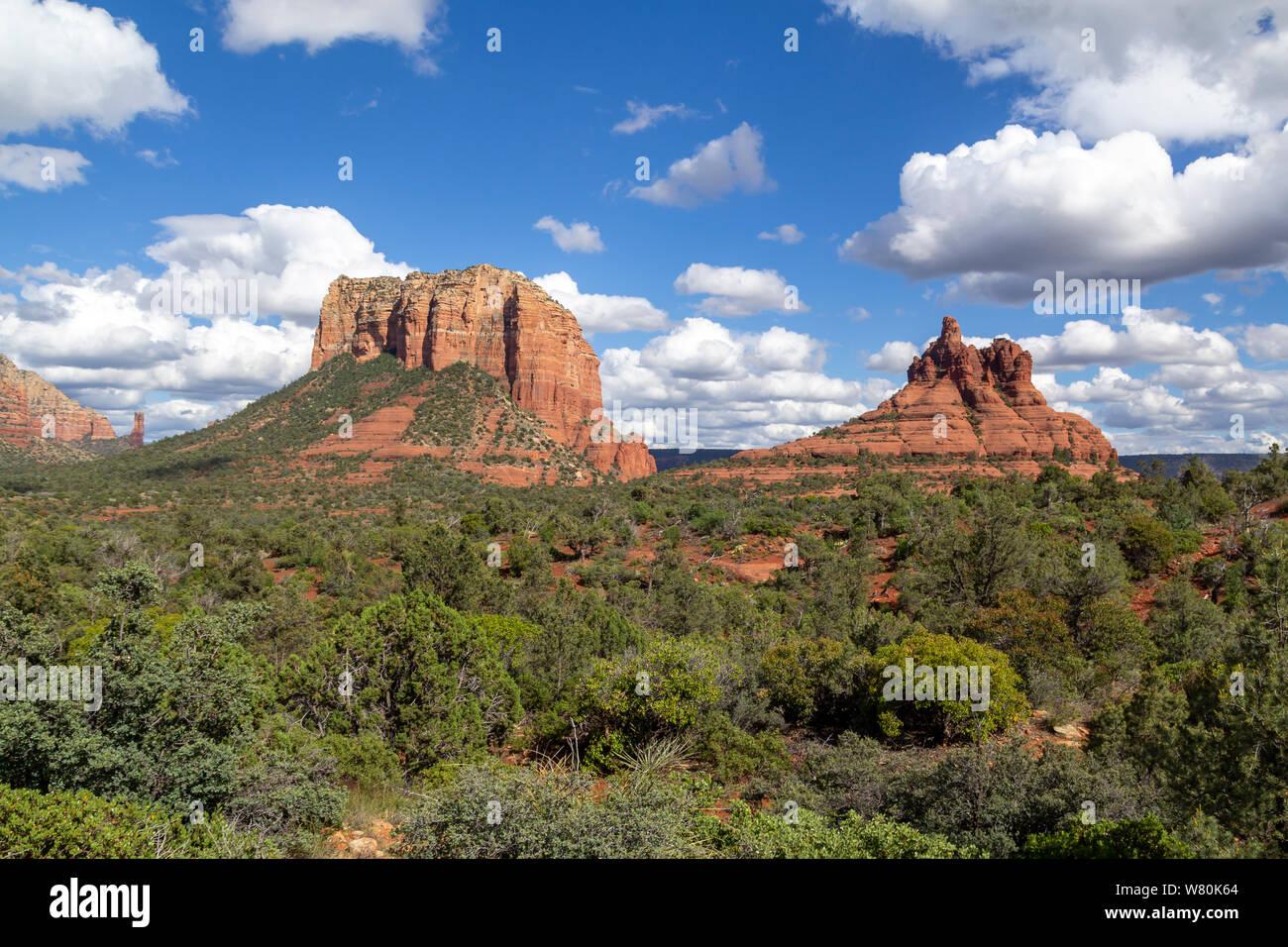 Landscape in Sedona, Arizona, United States Stock Photo