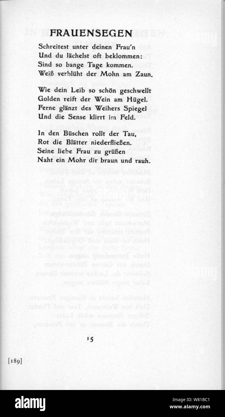 De Trakl Gedichte 1913 15 Stock Photo 263103681 Alamy