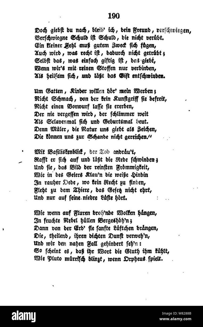 De William Shakspeares Sämmtliche Gedichte 190 Stock Photo