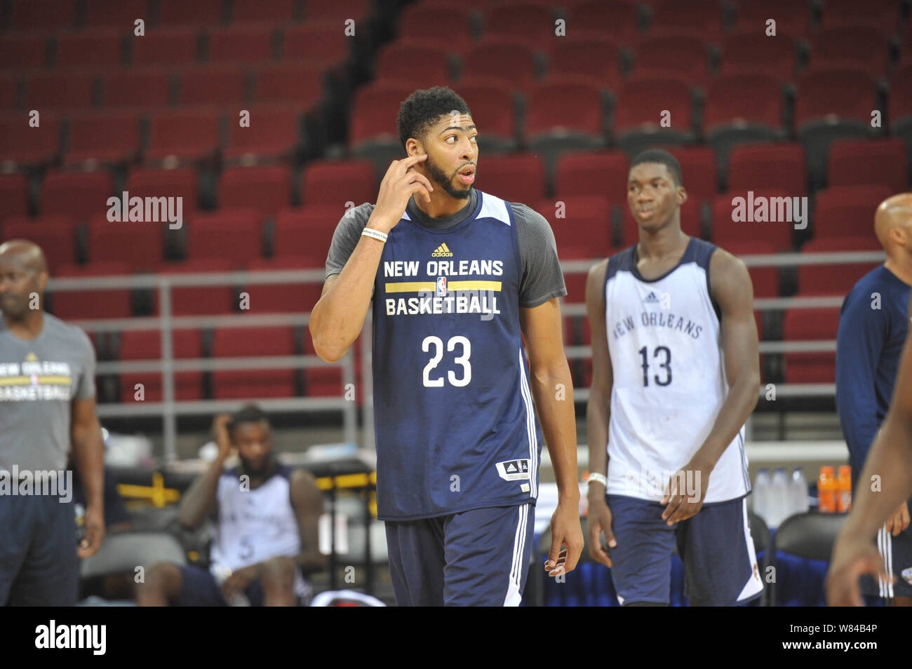 Anthony Davis Of New Orleans Pelicans Front Takes Part In