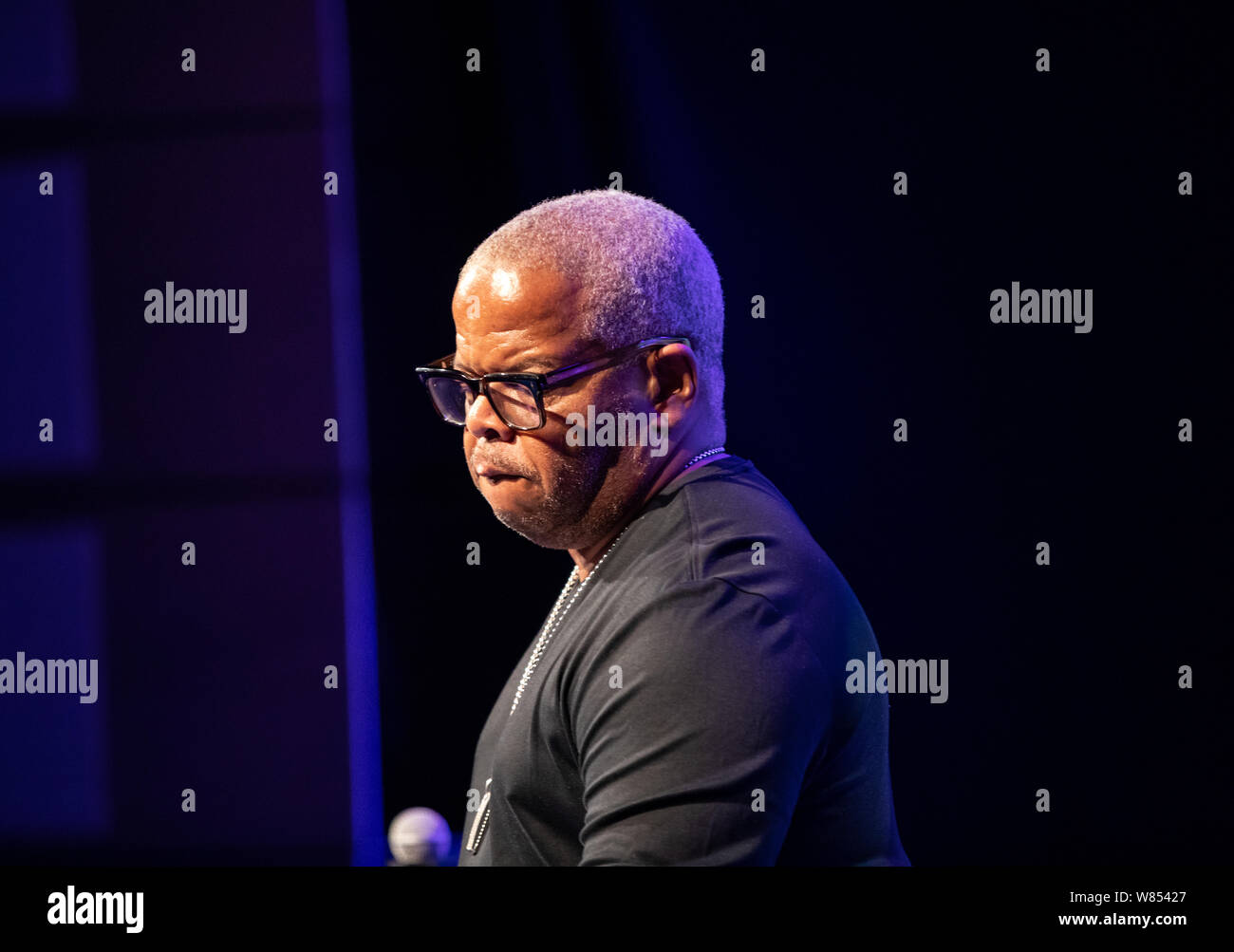 Cracow, Poland - July 17, 2019: Terence Blanchard and The E-Collective on stage in Manggha Museum of Japanese Art and Technology at the Summer Jazz Fe Stock Photo