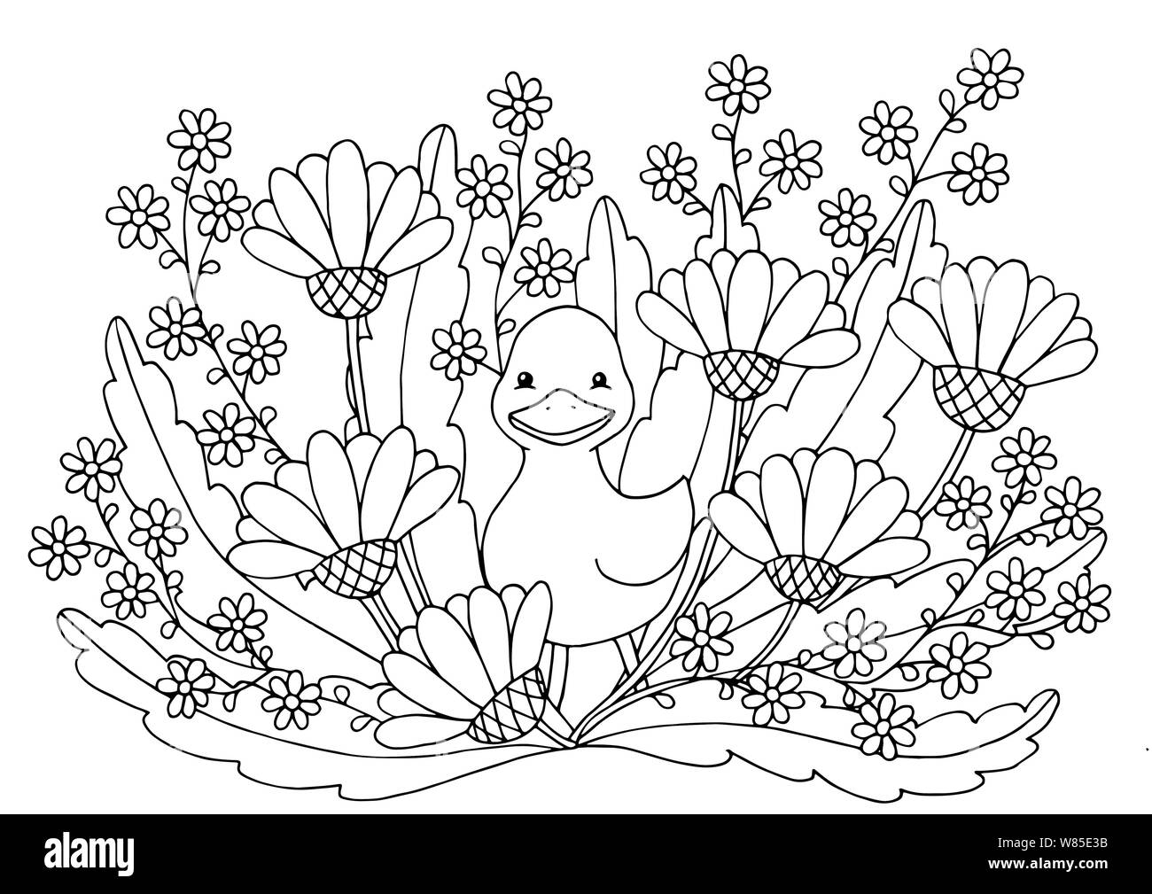 Top 20 Free Printable Duck Coloring Pages Online | 1009x1300