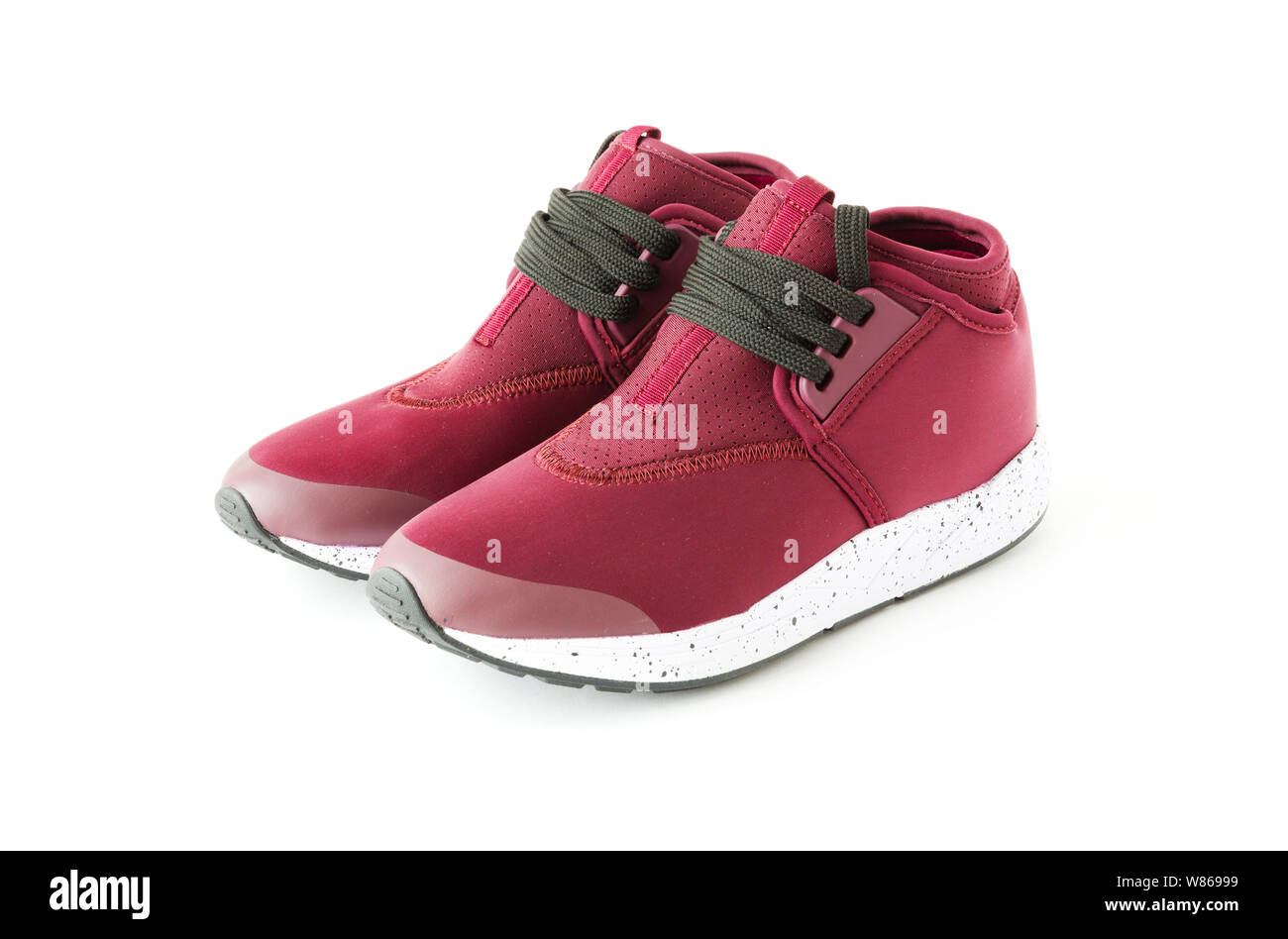 isolated unisex modern style jogging shoes Stock Photo