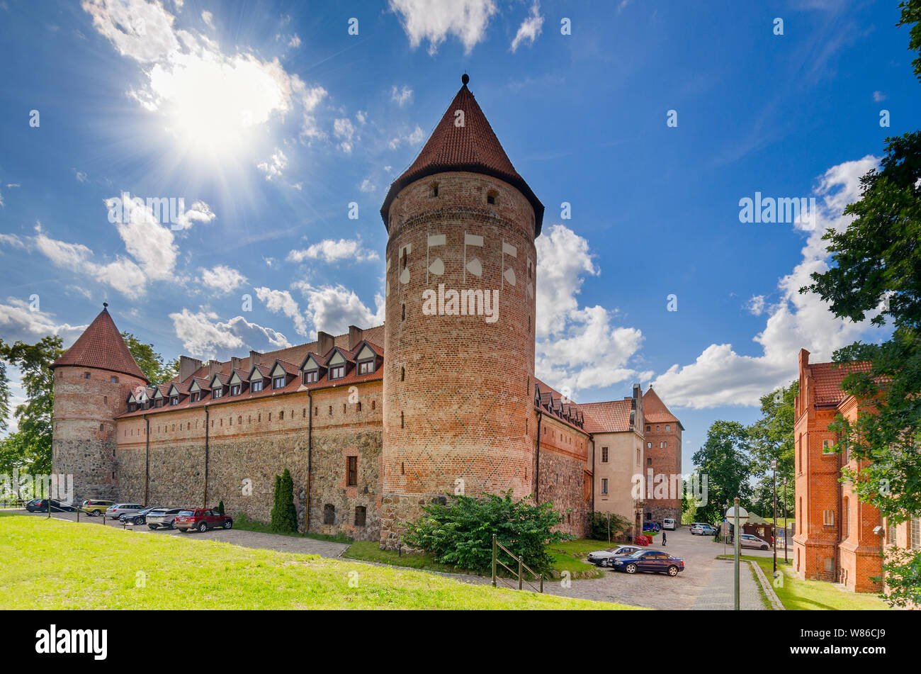 Bytow, pomeranian province, Poland, ger.: Butow. 14th cent. castle of the Teutonic Knights. Stock Photo