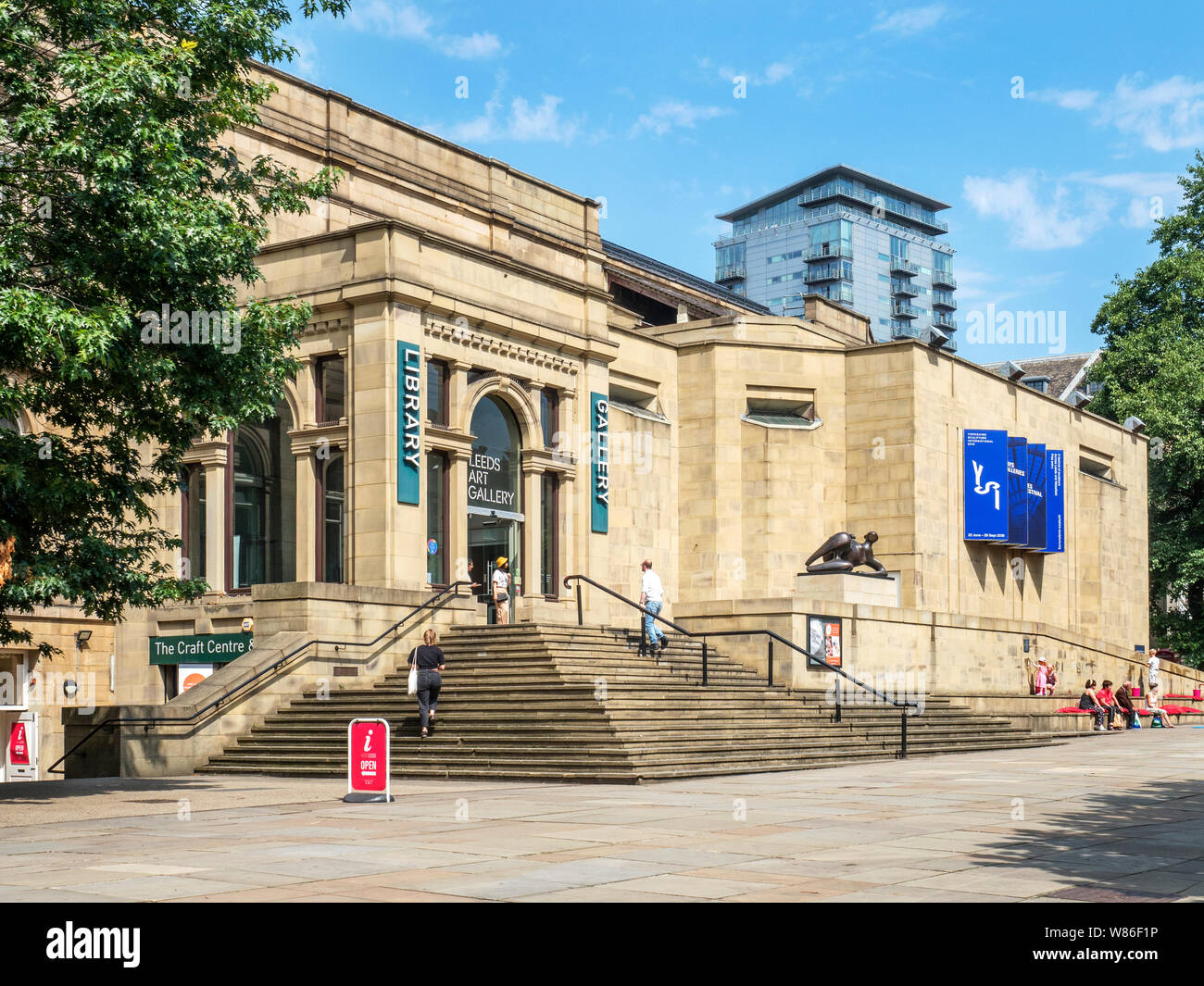 Leeds Art Gallery on The Headrow in Leeds West Yorkshire England Stock Photo