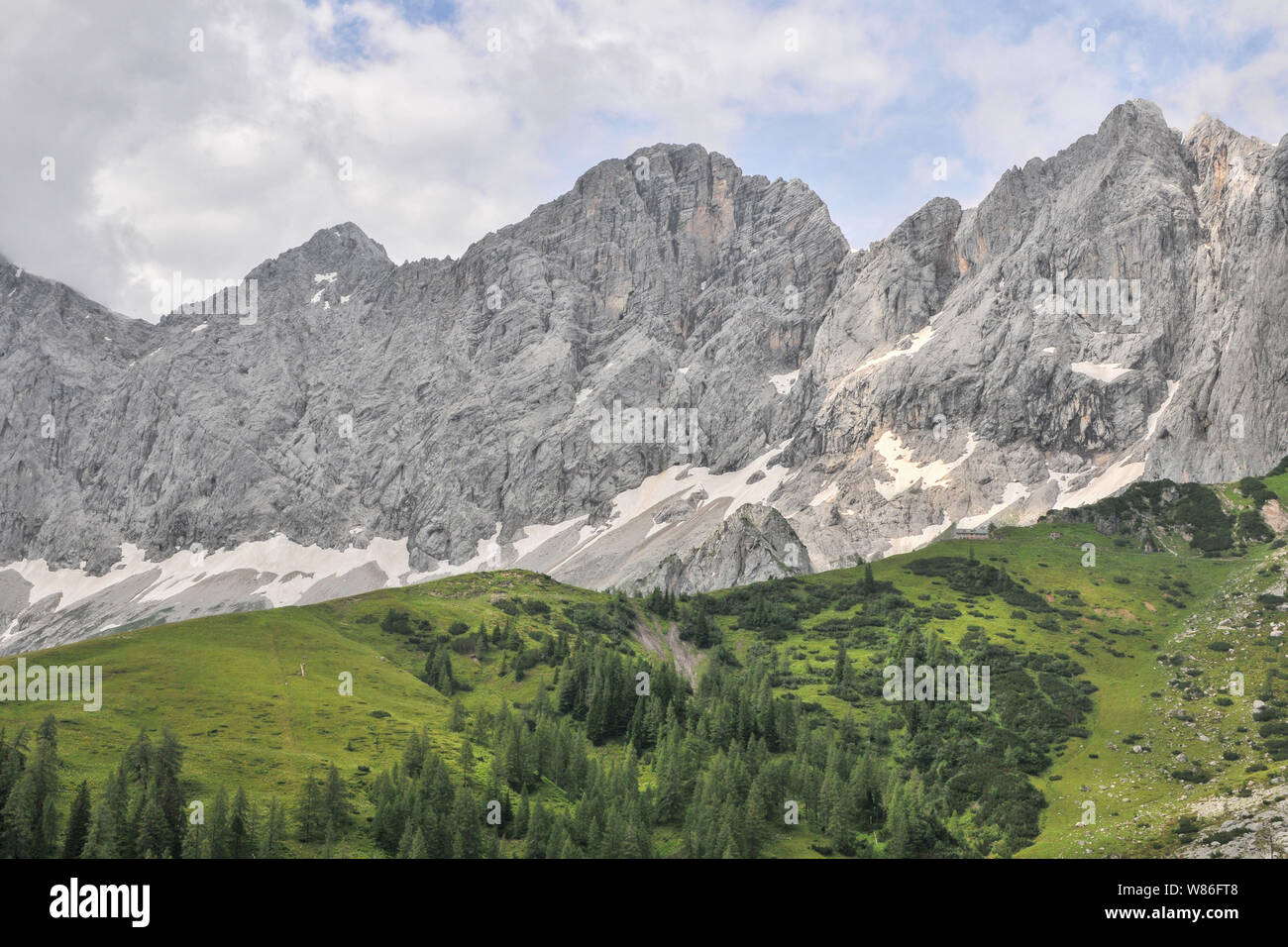 Dachsteingruppe, a group of beautiful mountains in Austria Stock Photo