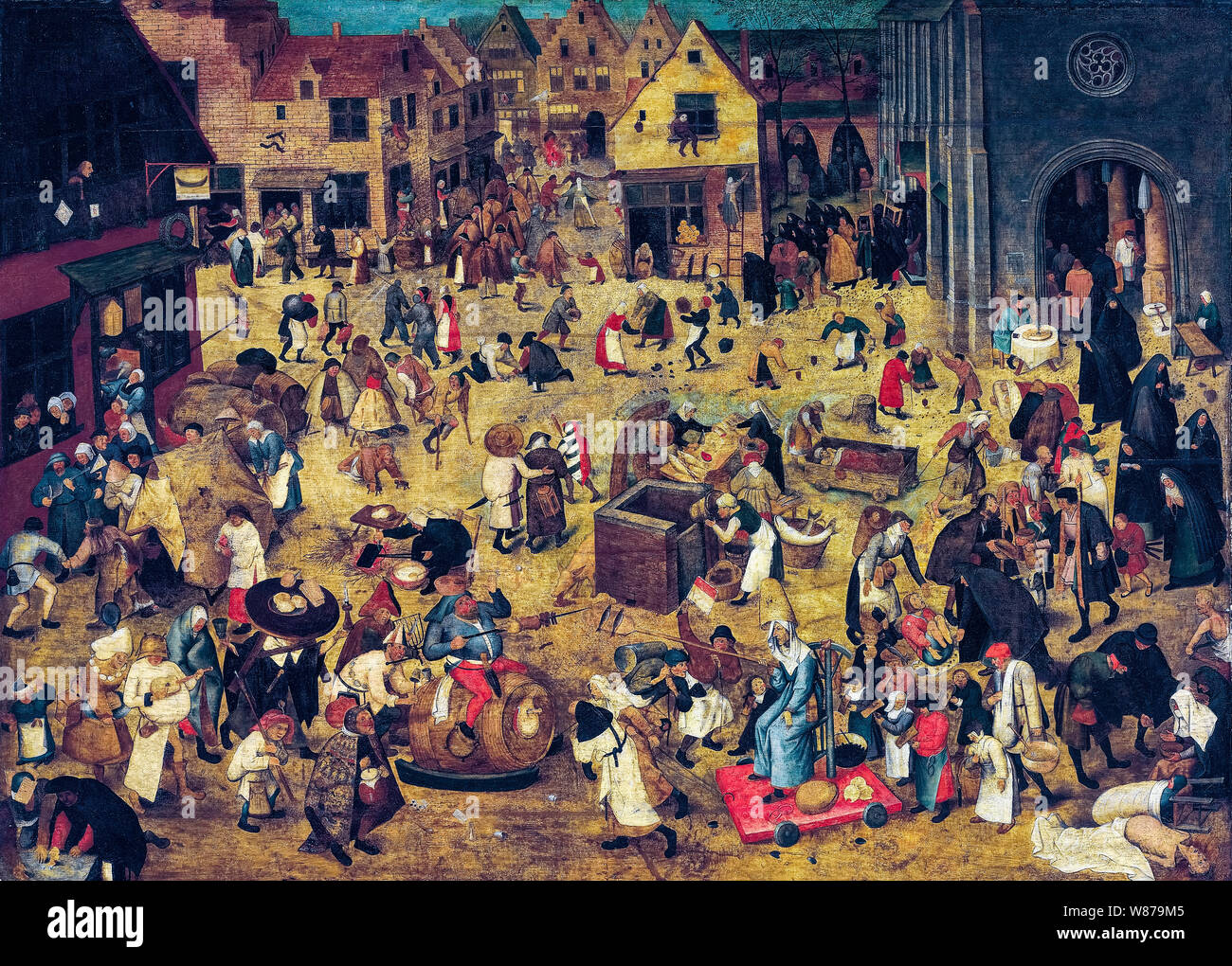 Pieter Brueghel the Younger, The Combat between Carnival and Lent, painting, 1600-1638 Stock Photo