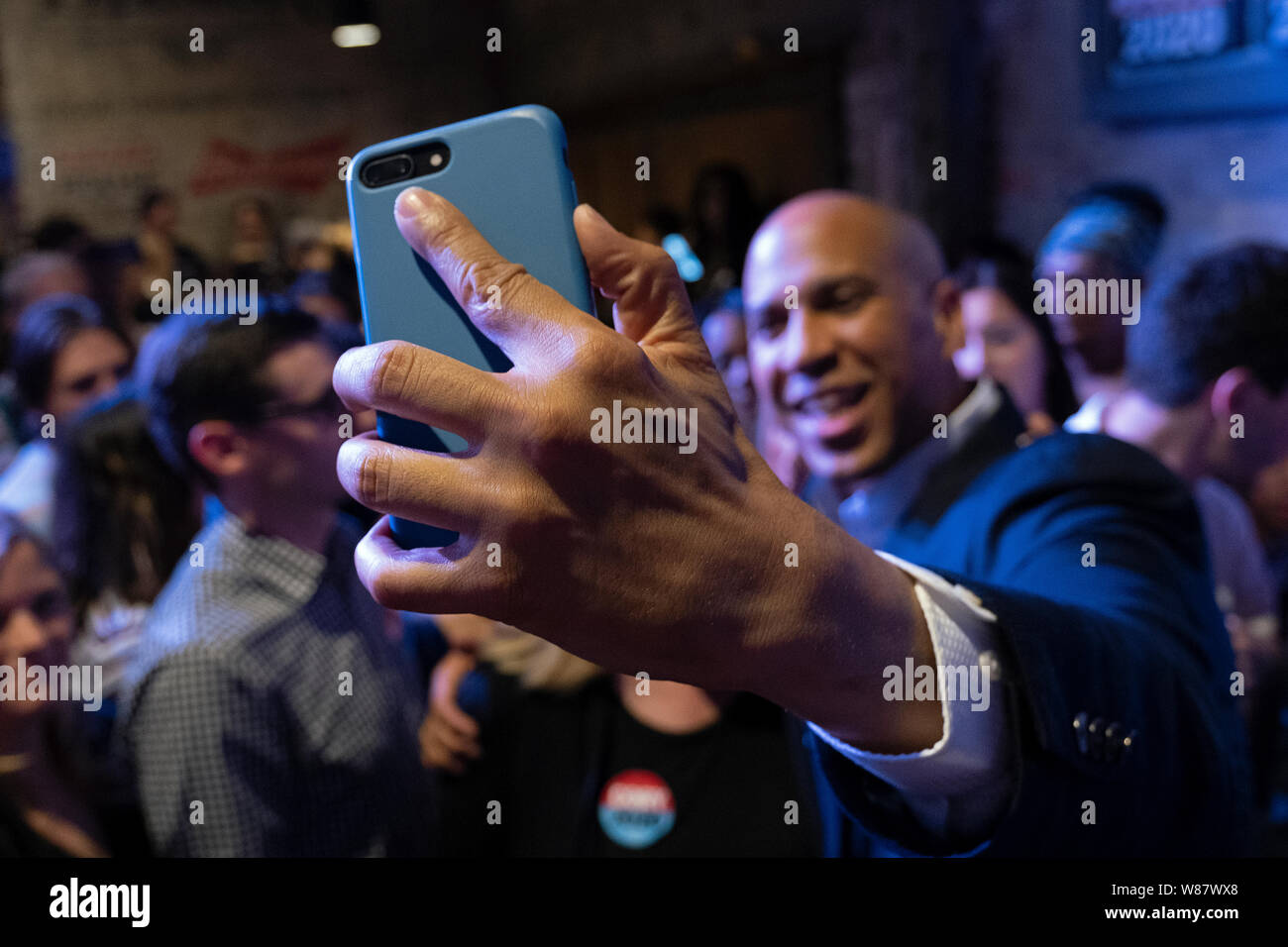 Democratic Presidential Candidate Cory Booker (D-NJ) appears during a Philadelphia Rise Event at The Fillmore Philadelphia. Stock Photo