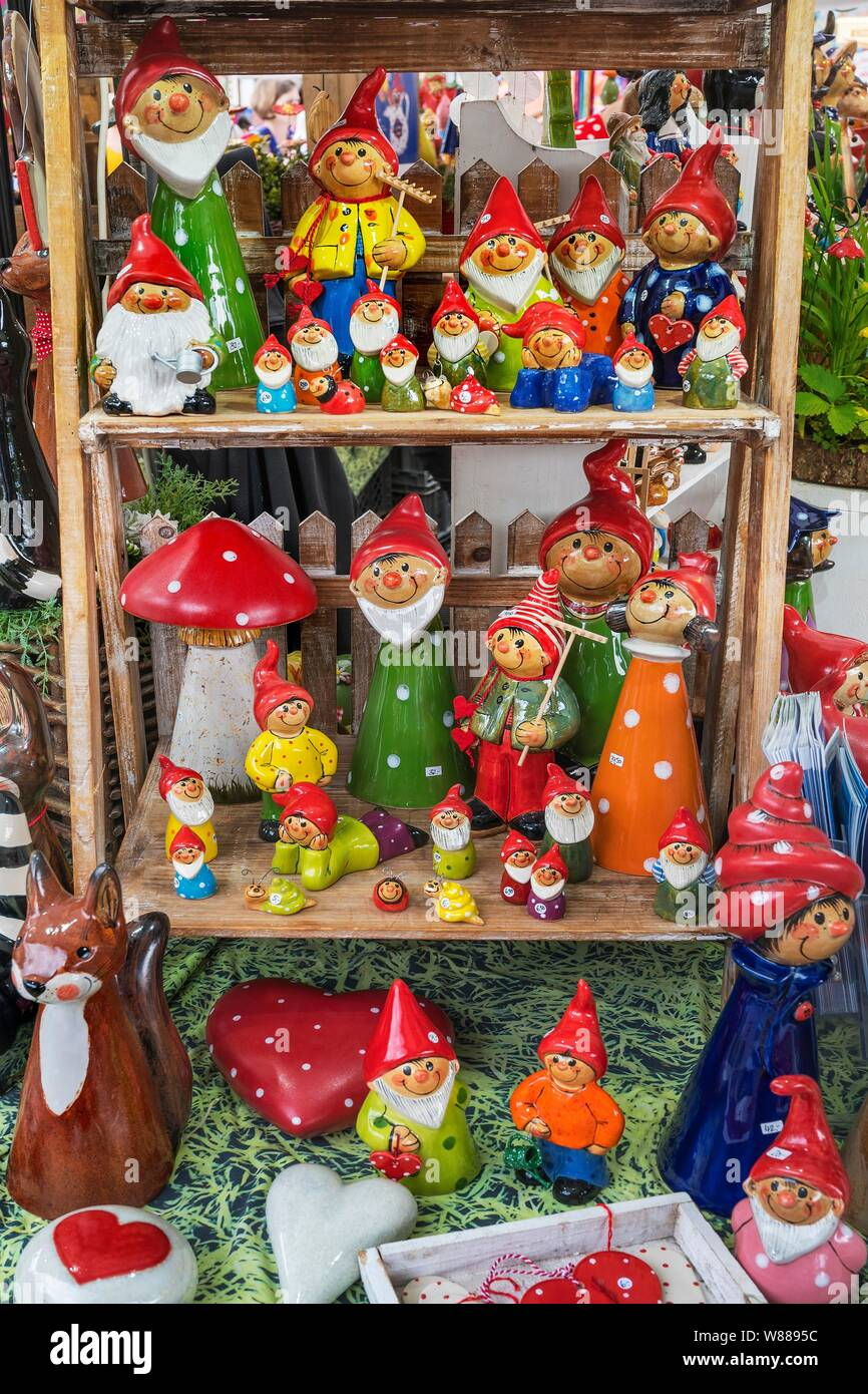 Funny Garden Gnomes For Sale Auer Dult Munich Upper Bavaria