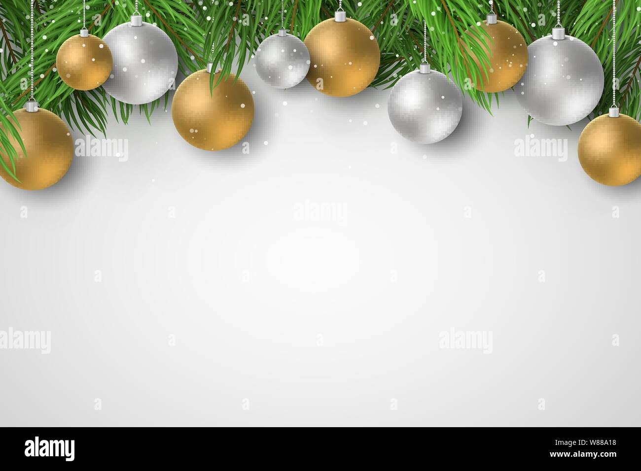 Festive template for Merry Christmas and Happy New Year 2020. Fir