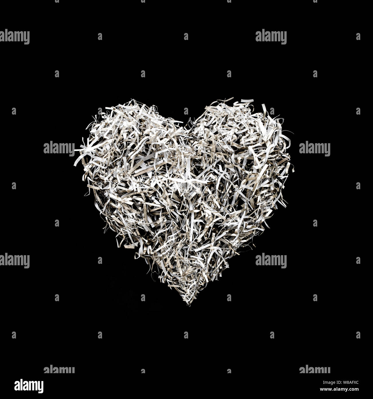 Heart Shape Decoration From Paper Art On Black Color Background Love Concepts Ideas Stock Photo Alamy